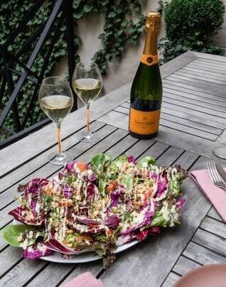 Radicchio Salad with Hazelnut Dukkah & Rosemary Tahini