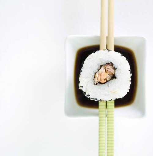 Veuve Clicquot - Caranguejo e sushi de pato fumado