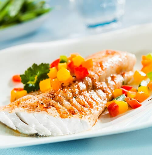 Veuve Clicquot - ウミゴイのサラダとキャビア風ナスのピュレ
