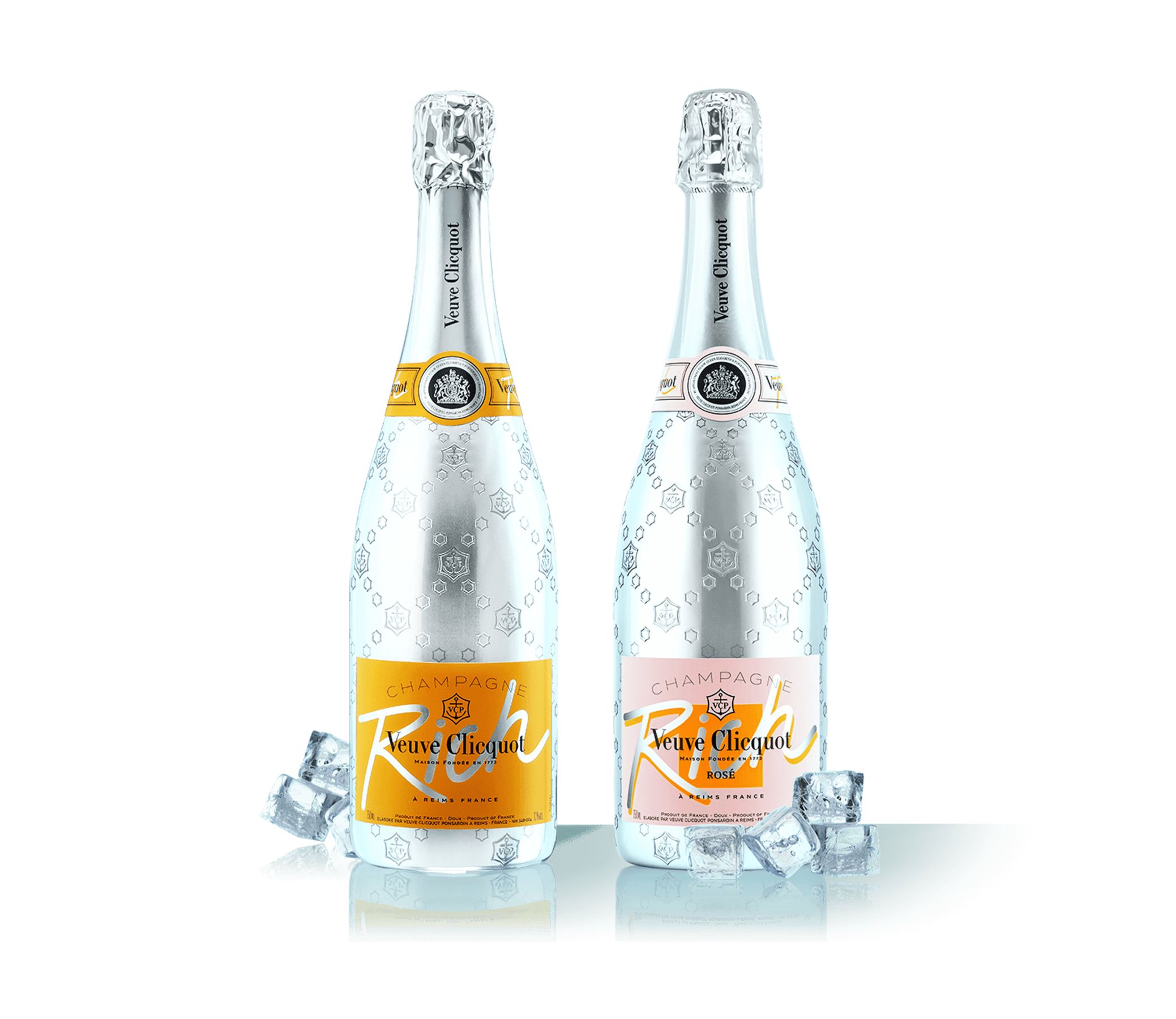 Garrafas do Champagne Veuve Clicquot Rich