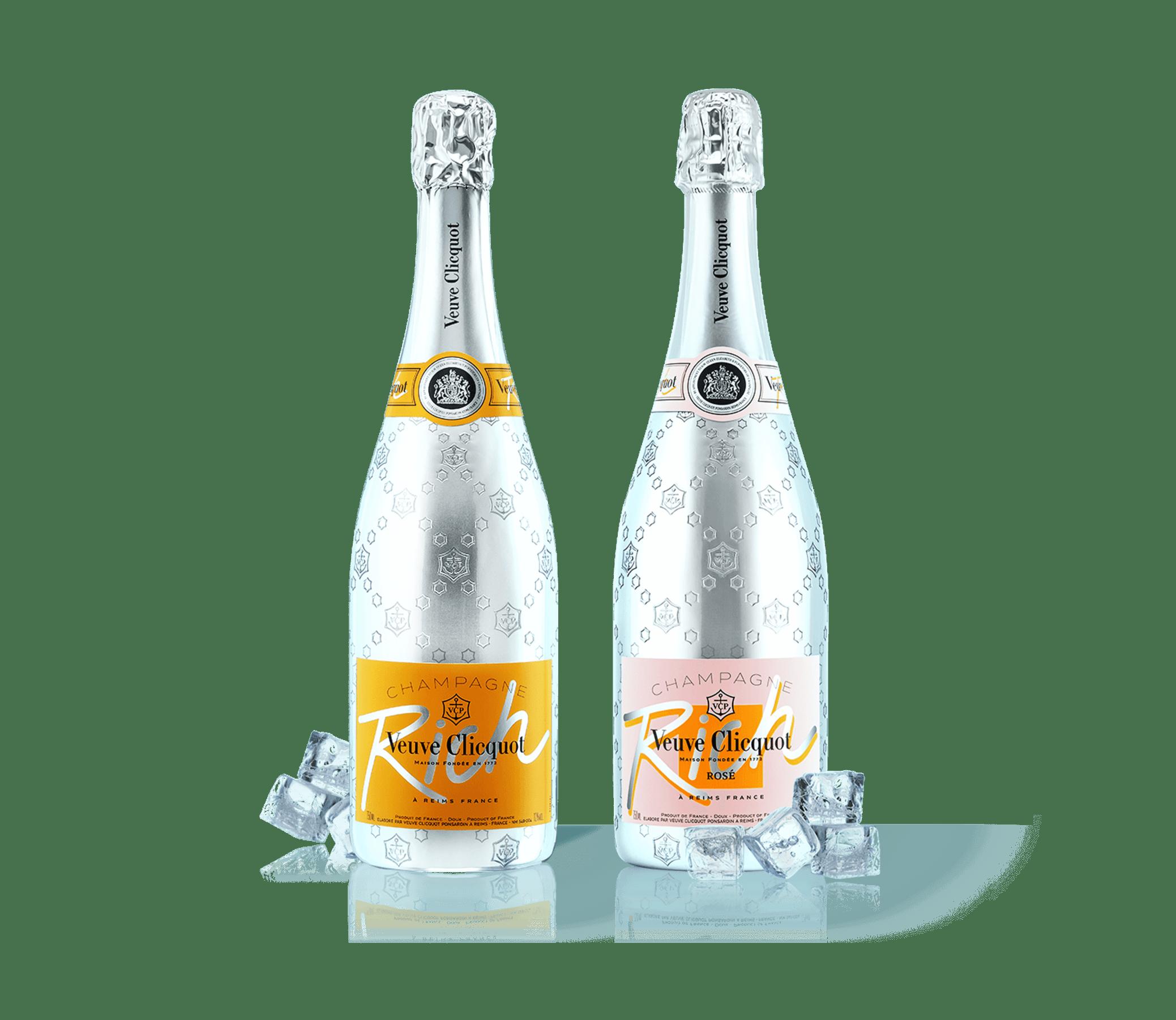 Bouteilles de Champagne Veuve Clicquot Rich