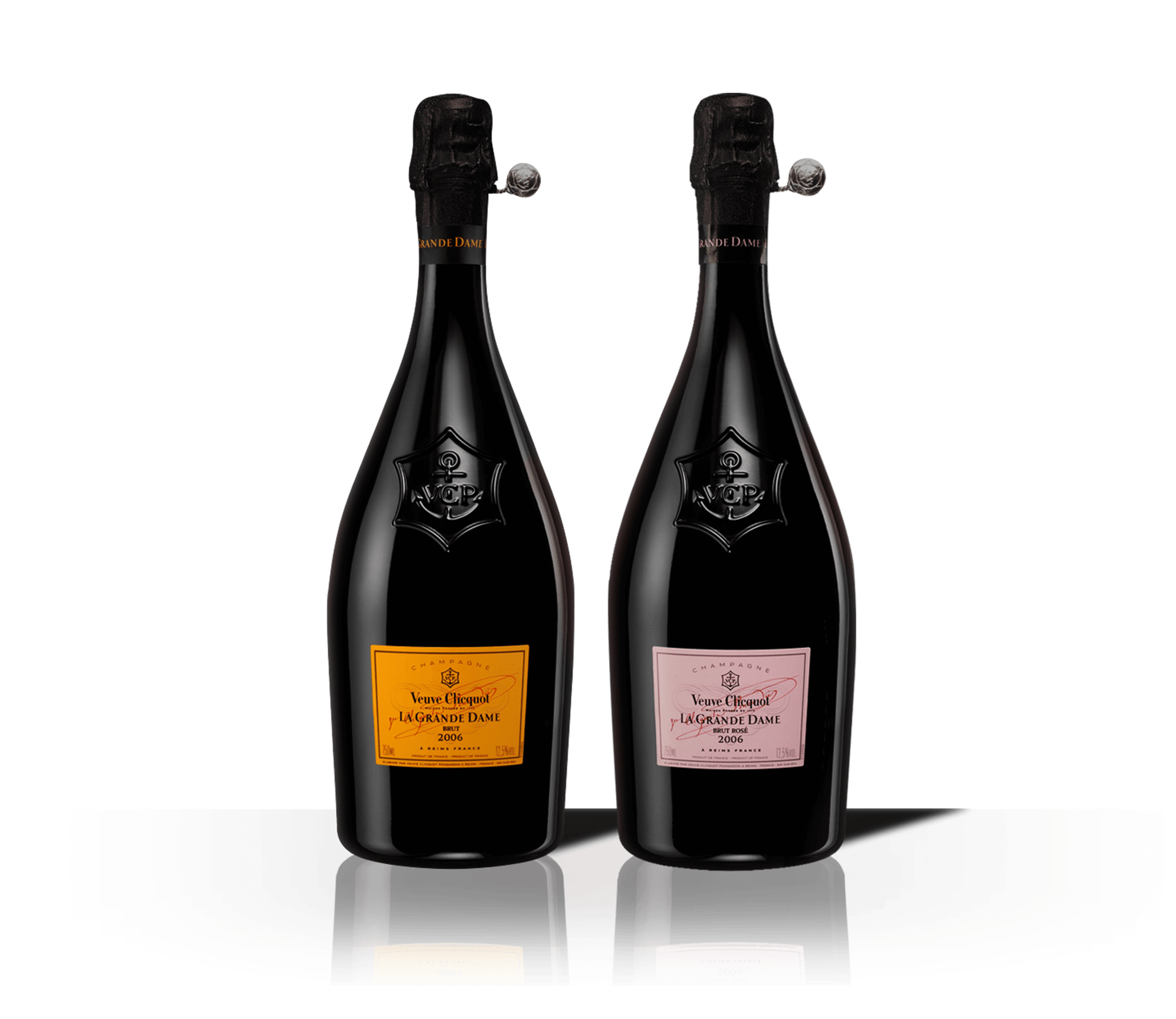 Бутылки шампанского Veuve Clicquot La Grande Dame 2008