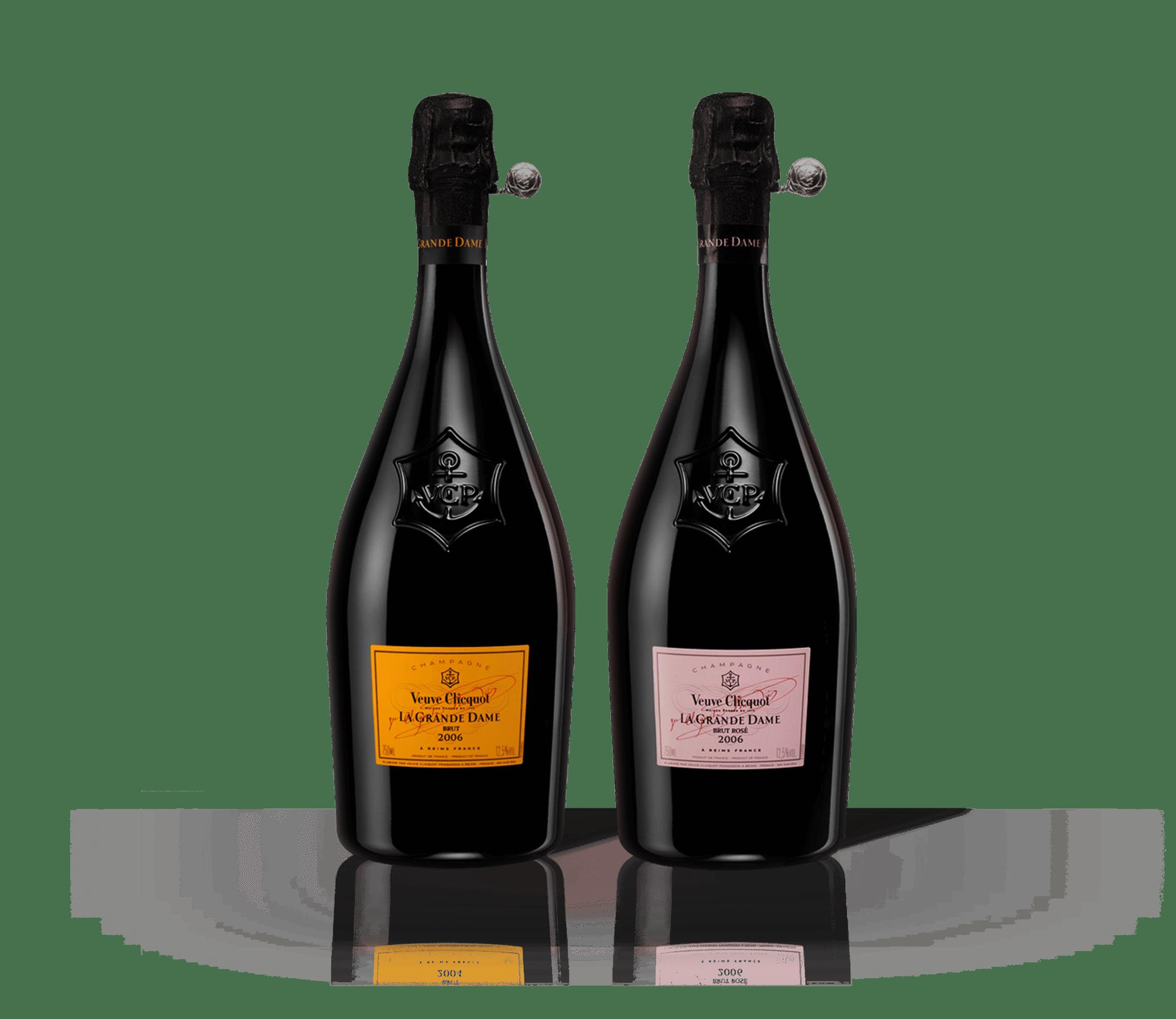 Bottles Veuve Clicquot Champagne La Grande Dame 2008