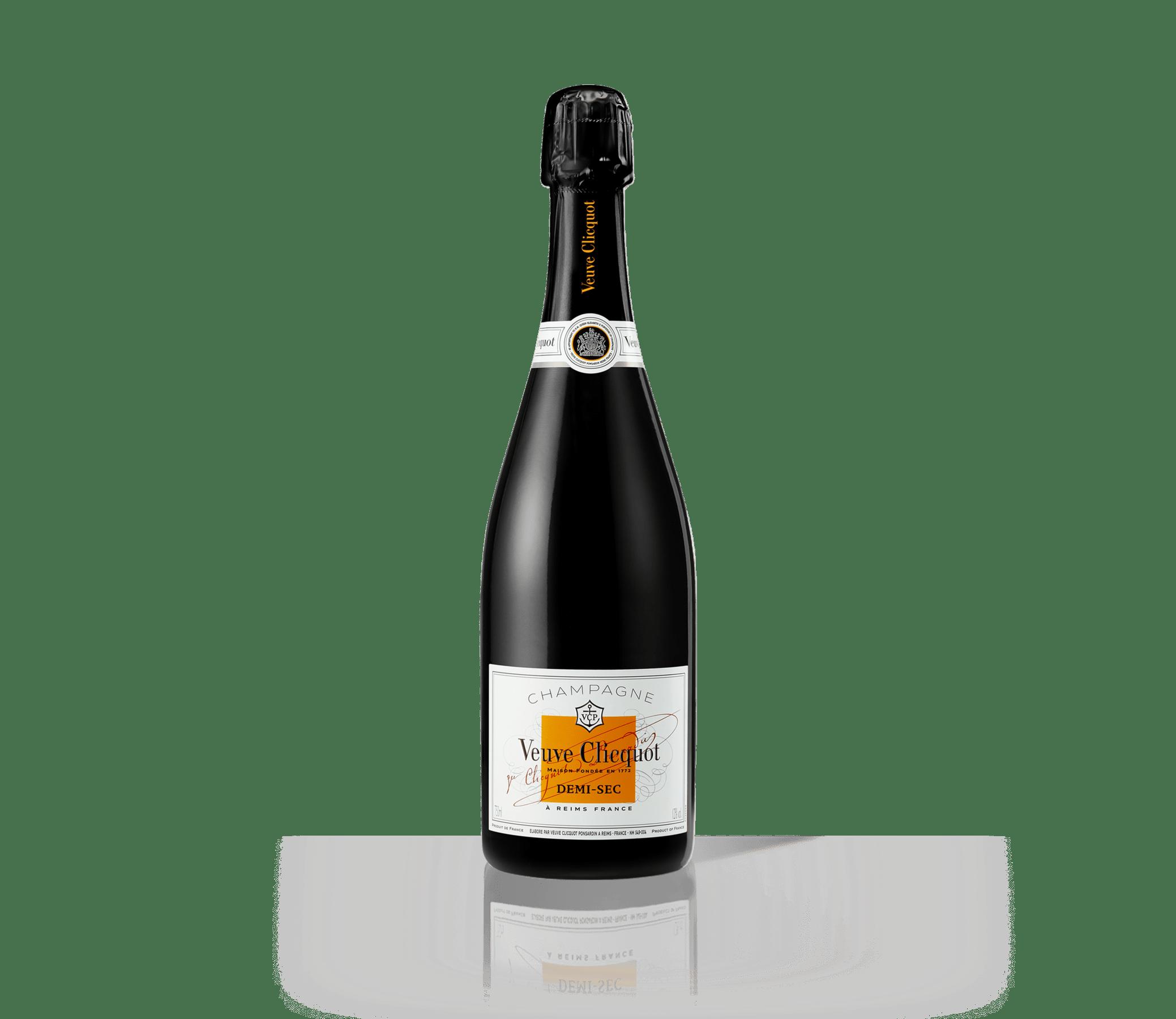 Flasche Veuve-Clicquot-Champagner Demi-Sec