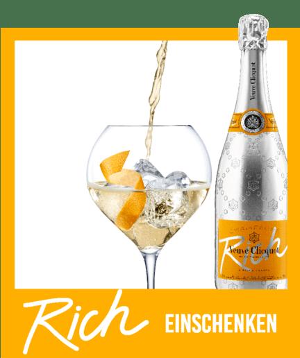 Rezept Darstellung 3 Veuve-Clicquot-Champagner Rich