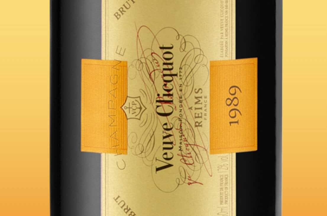 Etiqueta de champagne Veuve Clicquot Cave Privée Brut 1989