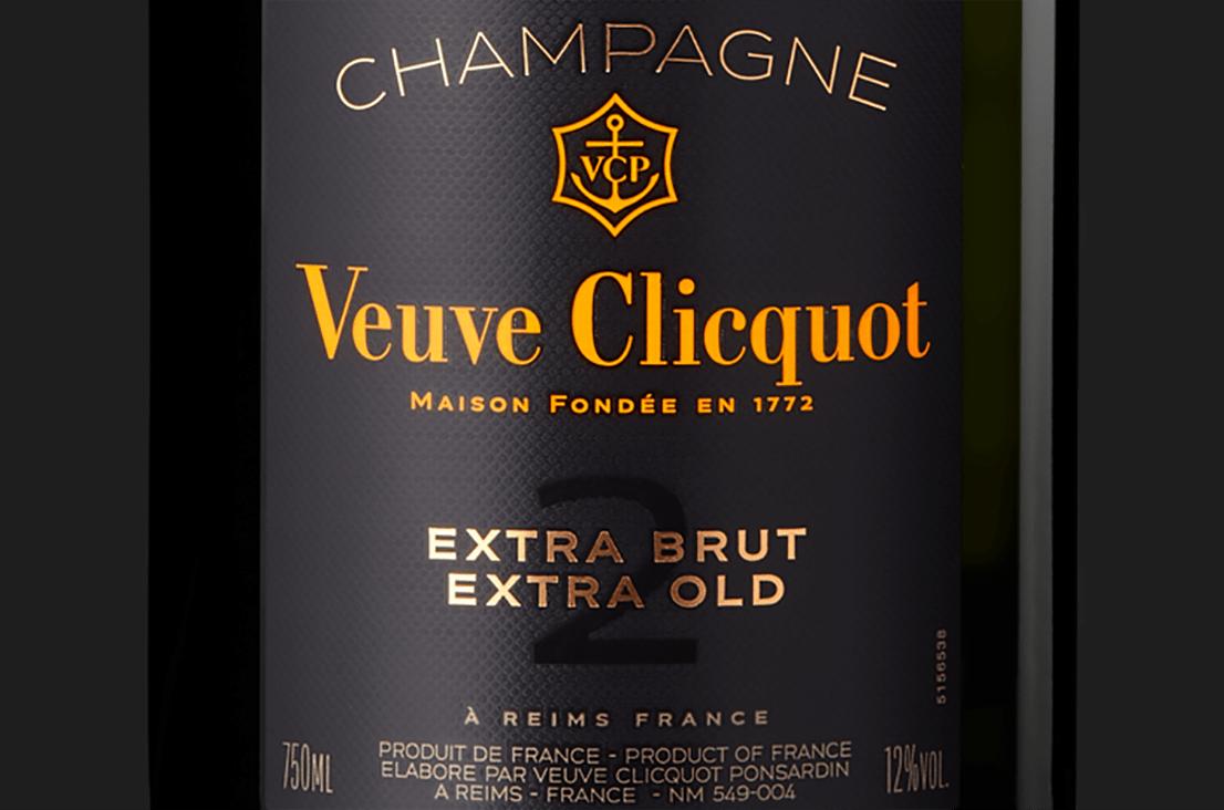 Étiquette de Champagne Veuve Clicquot Extra Brut Extra Old 2