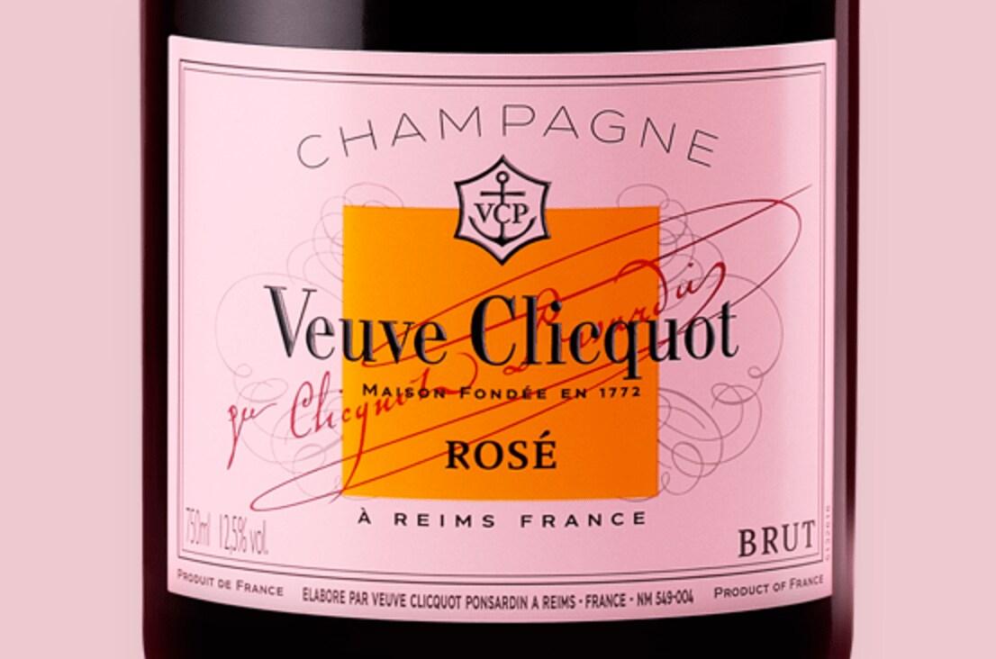 Label Veuve Clicquot Champagne Rosé
