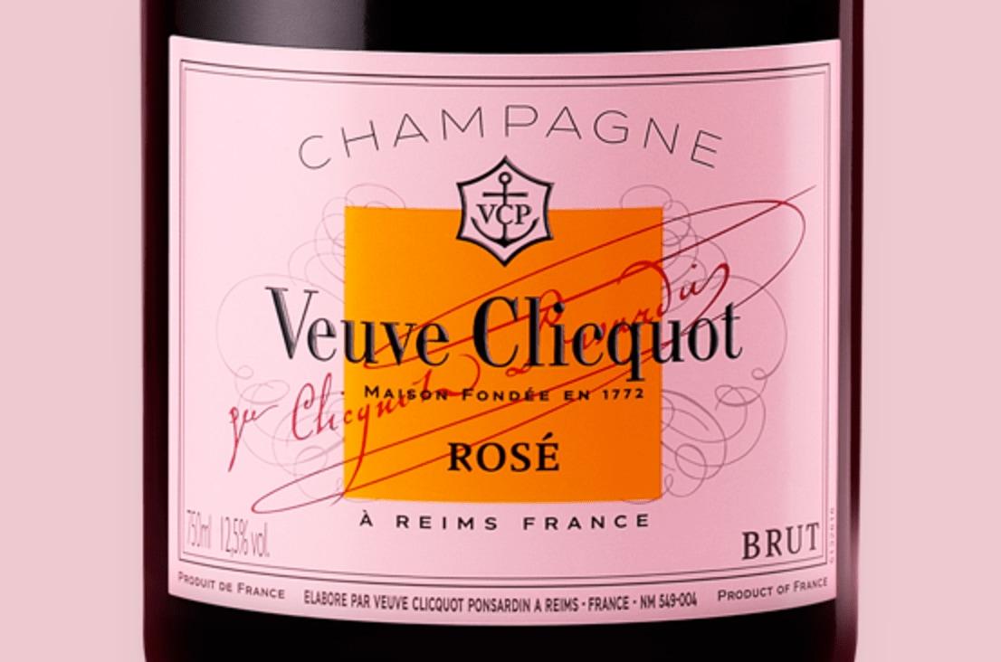 Etiqueta de champagne Veuve Clicquot Rosé