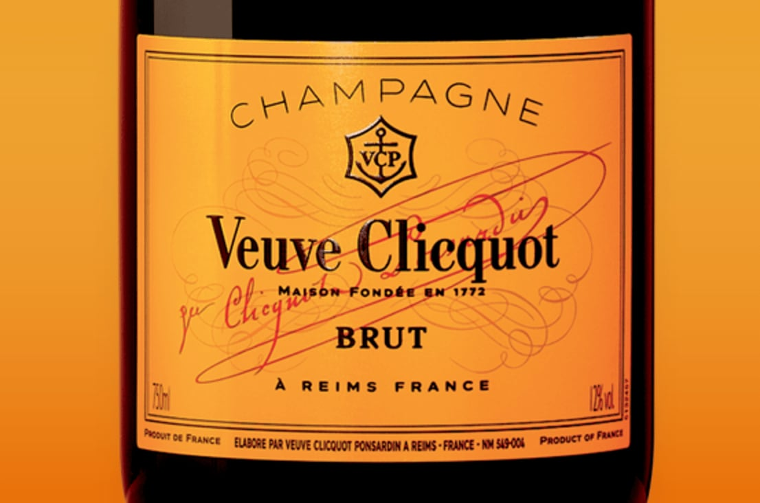 Etiqueta de champagne Veuve Clicquot Brut